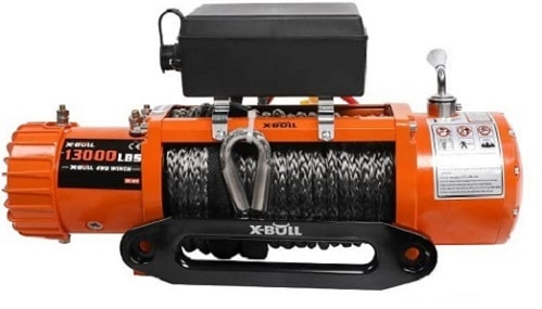 X-BULL 12V Synthetic Rope Winch-13000 lb Load Capacity (OLD)