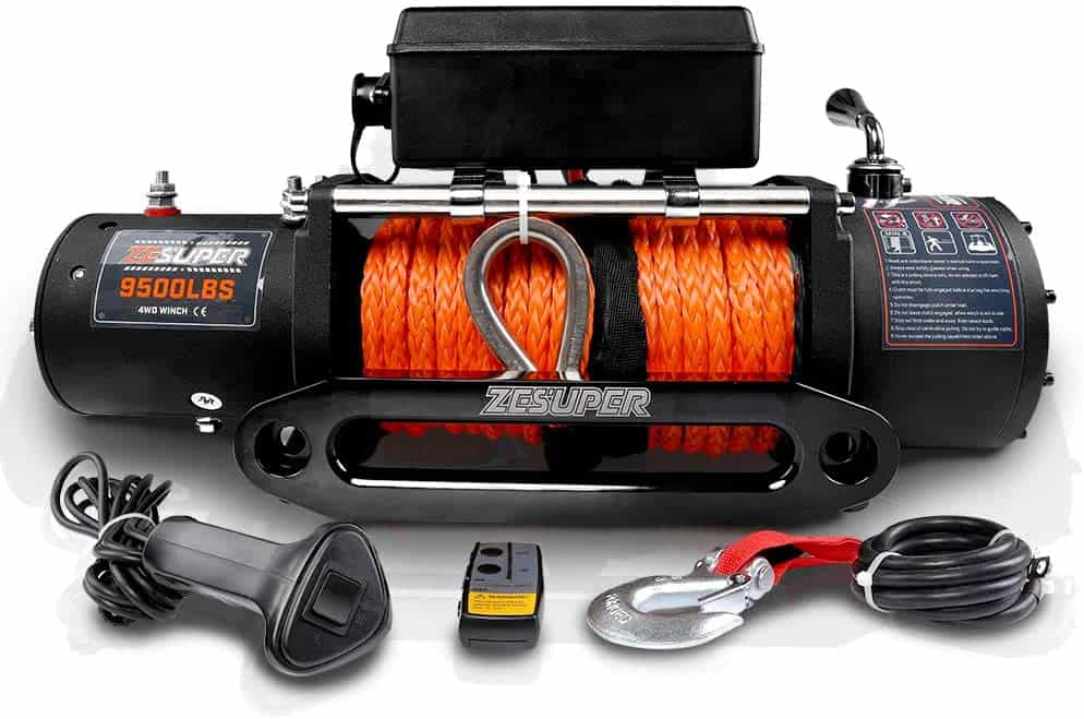 ZESUPER 9500lbs Load Capacity Electric Winch Kit