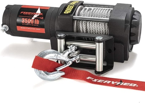 FIERYRED Electric 12V 3500lb Steel Cable Winch