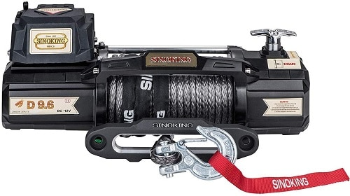 Sinoking 12VDC 9600LB Waterproof Electric Winch