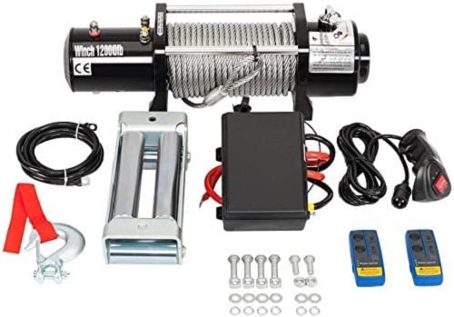 TRIBLE SIX 12000lbs Electric Winch 12V with Wireless Remote Towing