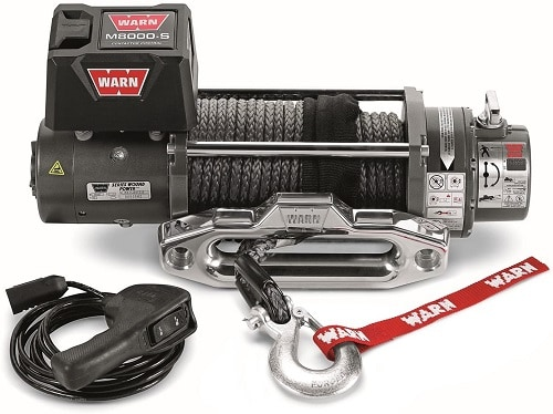 WARN 87800 M8000-S Series Electric 12V Winch with Synthetic Rope