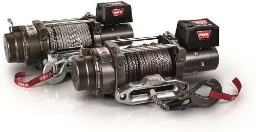 WARN 97730 M15-S Electric 12V Heavyweight Winch with Spydura Synthetic Cable