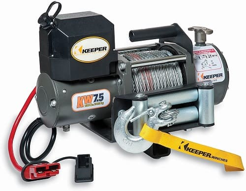 KEEPER KW75122RM-1 12V DC Rapid Mount Portable Winch with Wireless Control