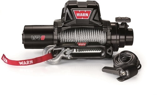WARN 96800 VR8 12V Electric Winch with Steel Cable Rope