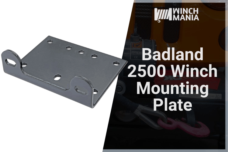 Badland 2500 Winch Mounting Plate