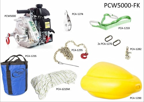Portable Winch Gas-Powered Capstan Winch Forestry Kit