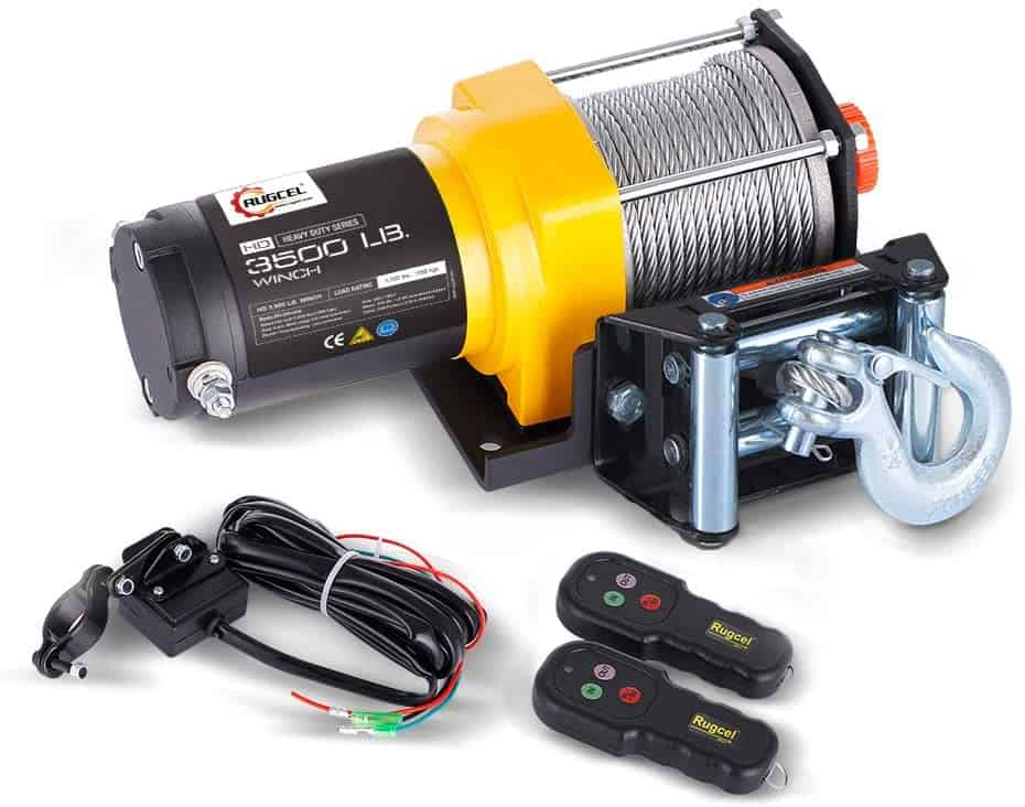 RUGCEL WINCH 3500 lb Waterproof IP68 Electric Winch