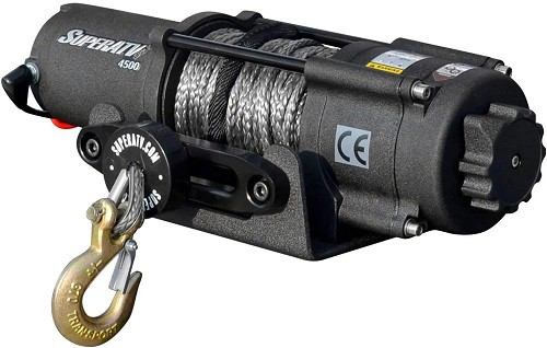 SuperATV 4500 Lb Black Ops ATV Winch