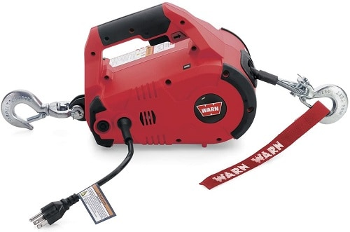 WARN 885000 PullzAll Corded 120V AC Portable Electric Winch with Steel Cable